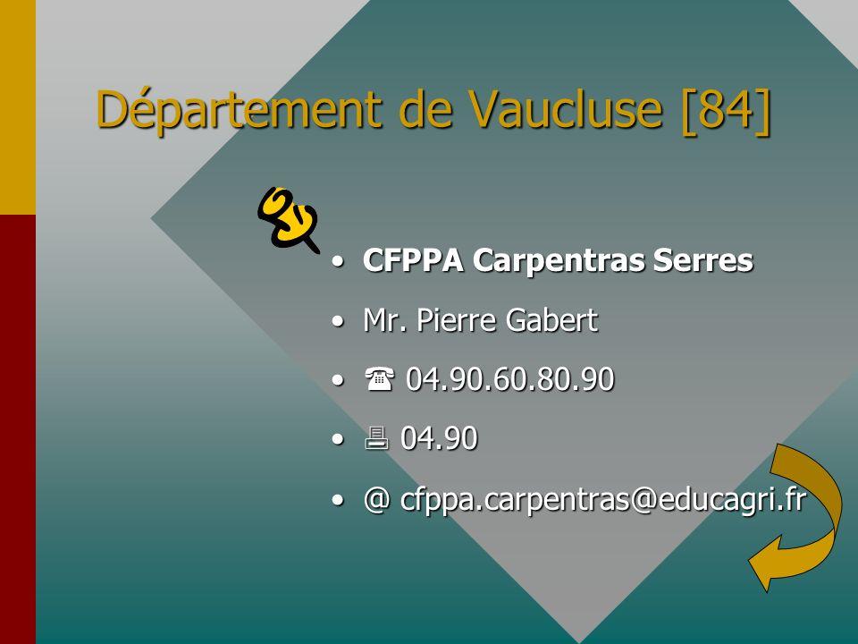 Département de Vaucluse [84]
